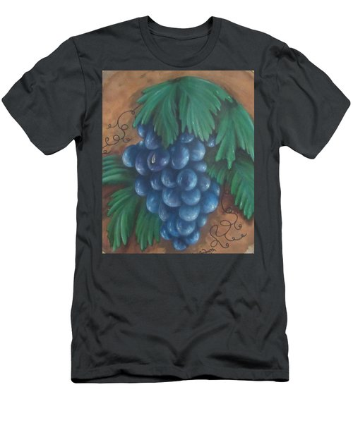 Grapes With Dewdrop Men's T-Shirt (Athletic Fit)