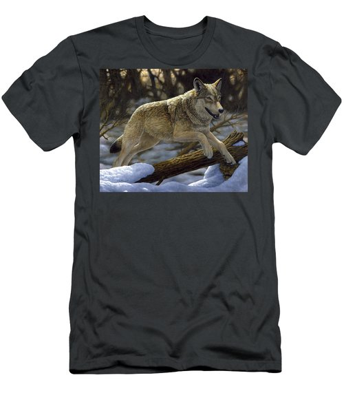 Gray Wolf - Just For Fun Men's T-Shirt (Athletic Fit)