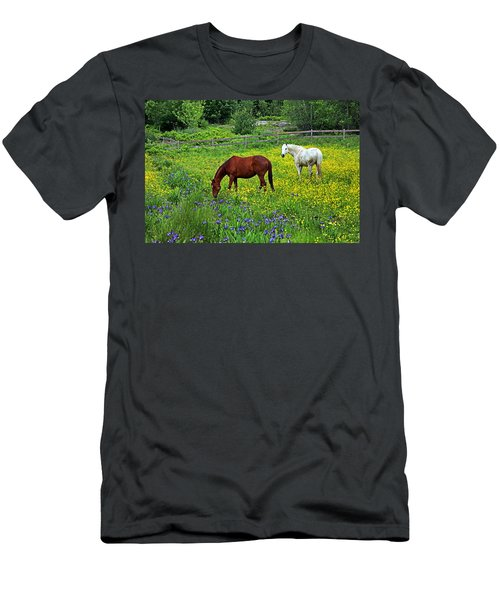 Grazing Amongst The Wildflowers Men's T-Shirt (Athletic Fit)