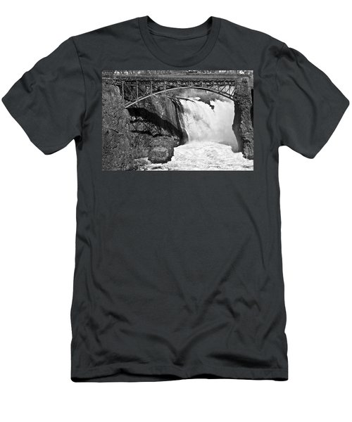 Great Falls In Paterson Nj Men's T-Shirt (Slim Fit) by Anthony Sacco