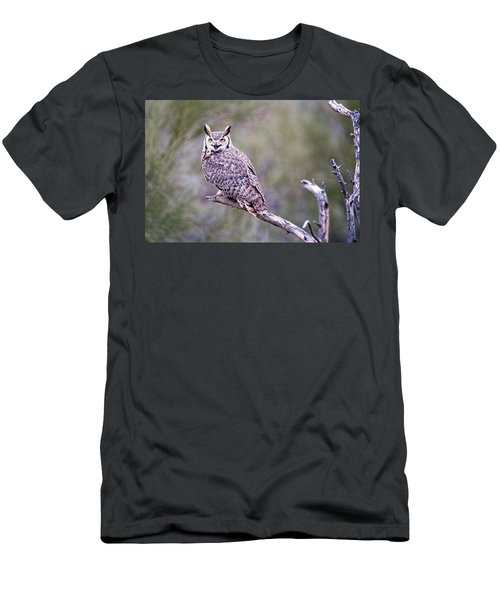 Men's T-Shirt (Slim Fit) featuring the photograph Great Horned Owl by Dan McManus
