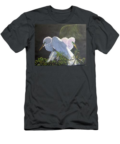 Great White Egrets Men's T-Shirt (Athletic Fit)