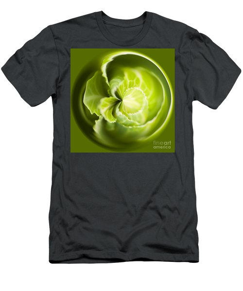 Green Cabbage Orb Men's T-Shirt (Athletic Fit)