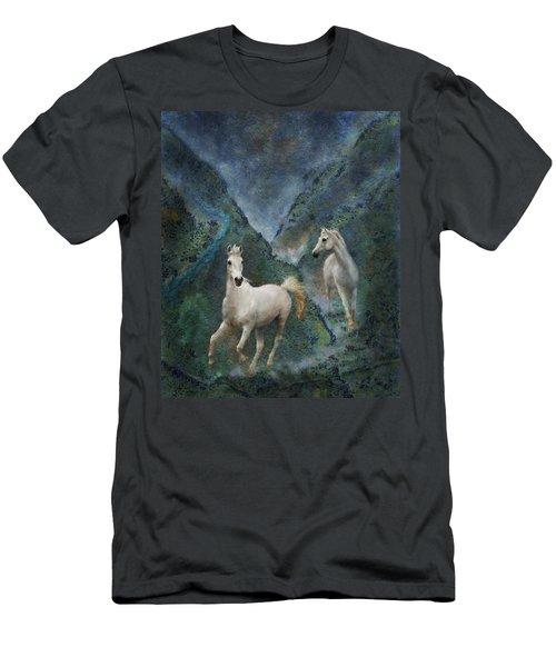 Green Canyon Run Men's T-Shirt (Slim Fit) by Melinda Hughes-Berland