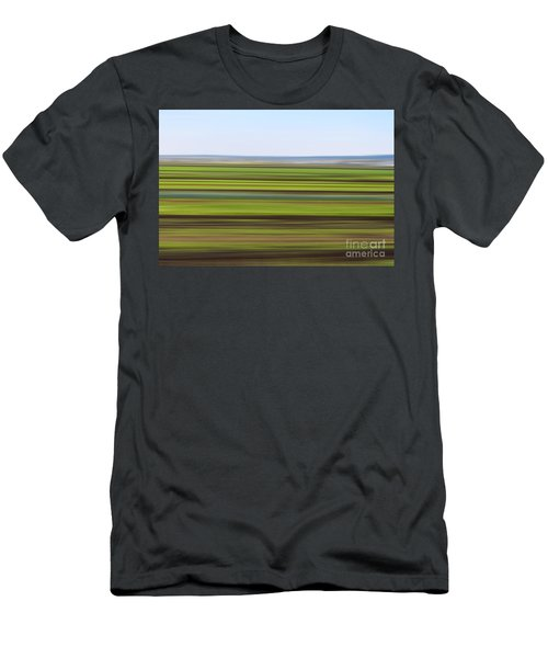 Green Field Abstract Men's T-Shirt (Athletic Fit)