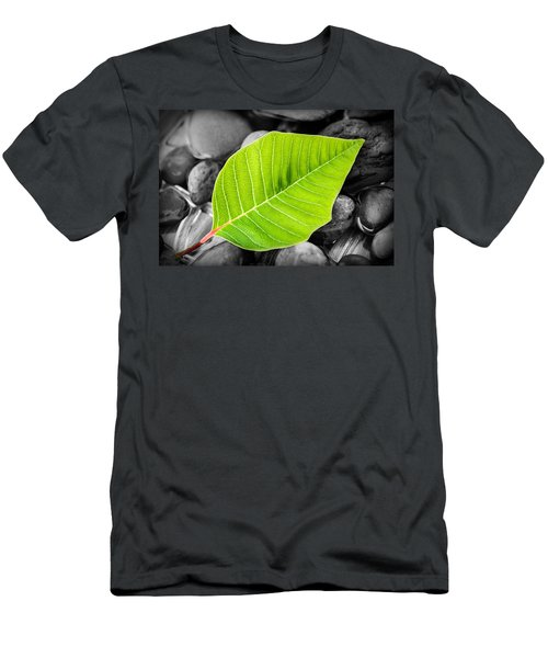 Green Leaf Men's T-Shirt (Athletic Fit)