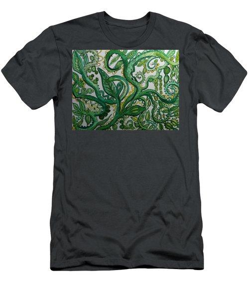 Green Meditation Men's T-Shirt (Athletic Fit)