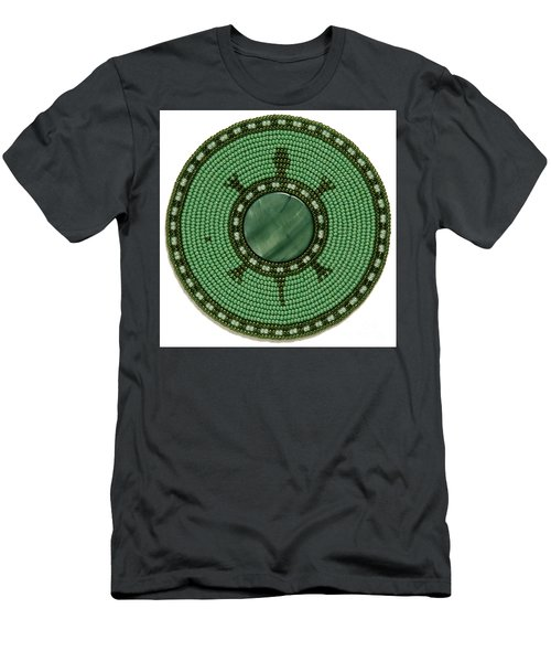 Green Shell Turtle Men's T-Shirt (Athletic Fit)