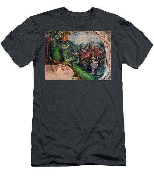 Green Tea In The Garden Men's T-Shirt (Athletic Fit)