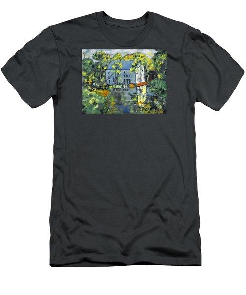 Green Township Mill House Men's T-Shirt (Slim Fit) by Michael Daniels