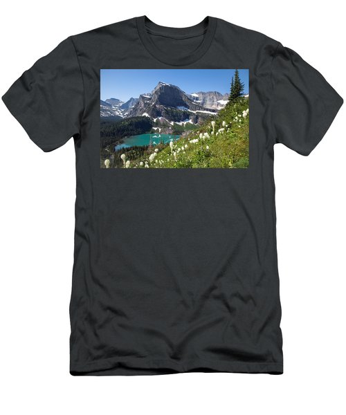 Grinnell Lake With Beargrass Men's T-Shirt (Slim Fit) by Jack Bell