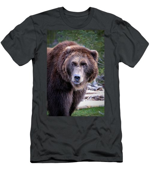 Men's T-Shirt (Slim Fit) featuring the photograph Grizzly by Athena Mckinzie