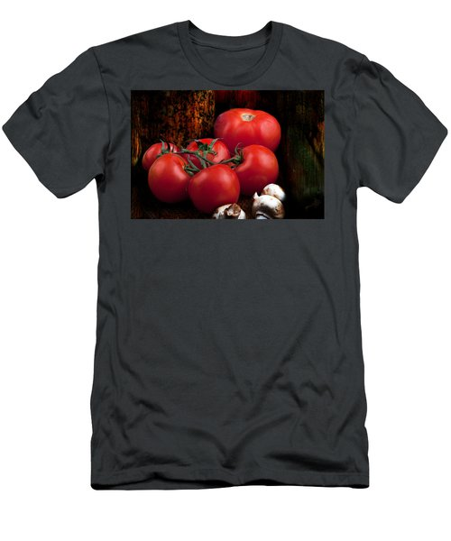 Men's T-Shirt (Athletic Fit) featuring the photograph Group Of Vegetables by Gunter Nezhoda