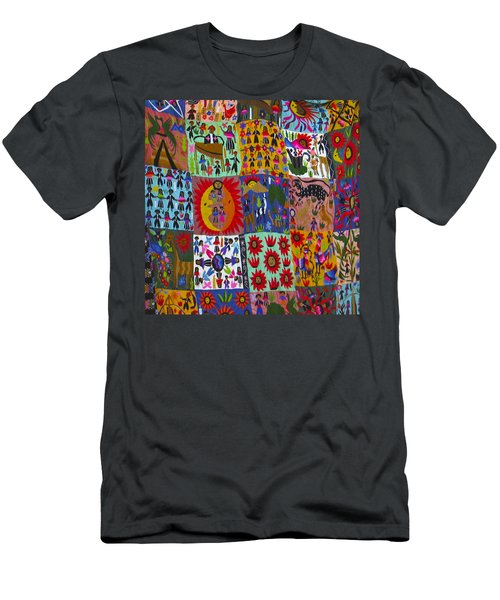 Guatemala Folk Art Quilt Men's T-Shirt (Athletic Fit)
