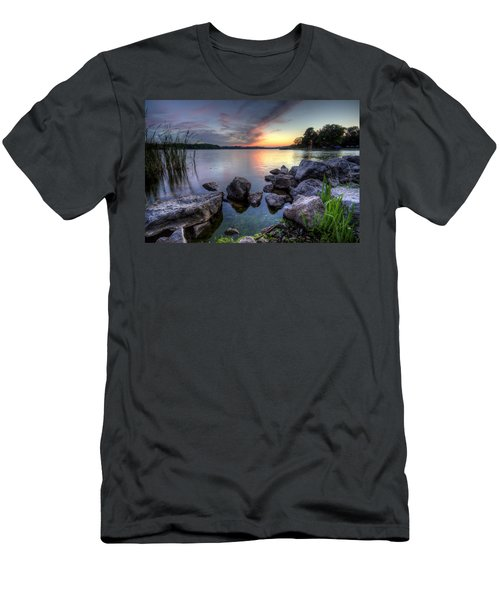 Guilford Lake Sunset Men's T-Shirt (Athletic Fit)