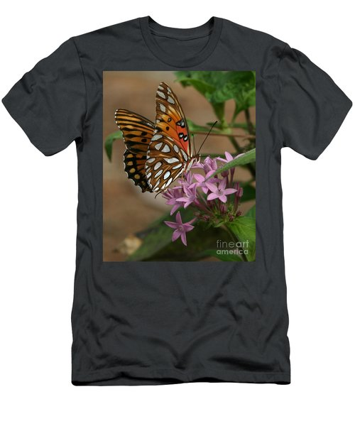 Gulf Fritillary Butterfly Men's T-Shirt (Athletic Fit)