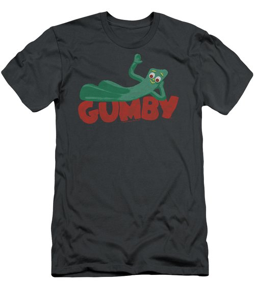 Gumby - On Logo Men's T-Shirt (Athletic Fit)