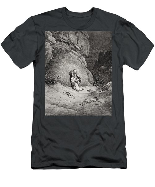 Hagar And Ishmael In The Desert Men's T-Shirt (Athletic Fit)