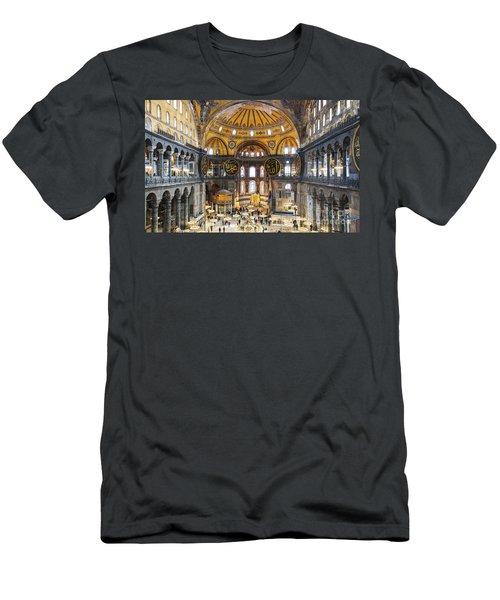 Hagia Sofia Interior 35 Men's T-Shirt (Slim Fit) by Antony McAulay