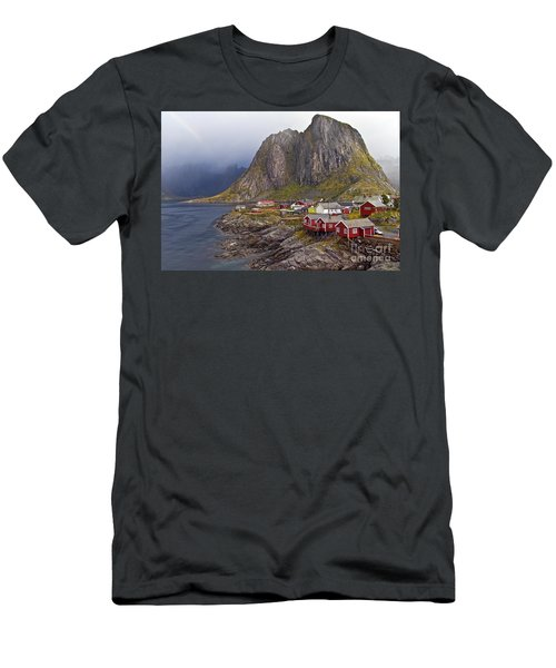 Hamnoy Rorbu Village Men's T-Shirt (Athletic Fit)
