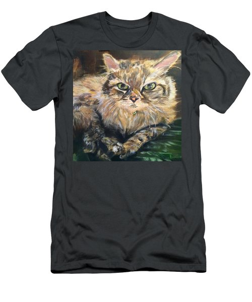 Men's T-Shirt (Slim Fit) featuring the painting Handsome Toby by Belinda Low