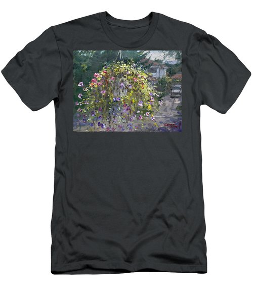 Hanging Flowers From Balcony Men's T-Shirt (Athletic Fit)
