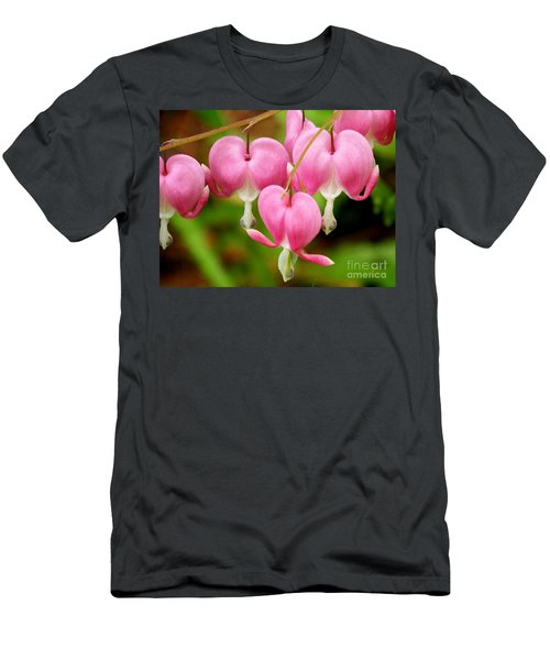 Hanging Hearts In Pink And White Men's T-Shirt (Athletic Fit)