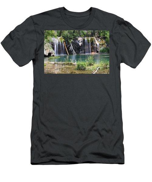 Hanging Lake Men's T-Shirt (Slim Fit) by Eric Glaser
