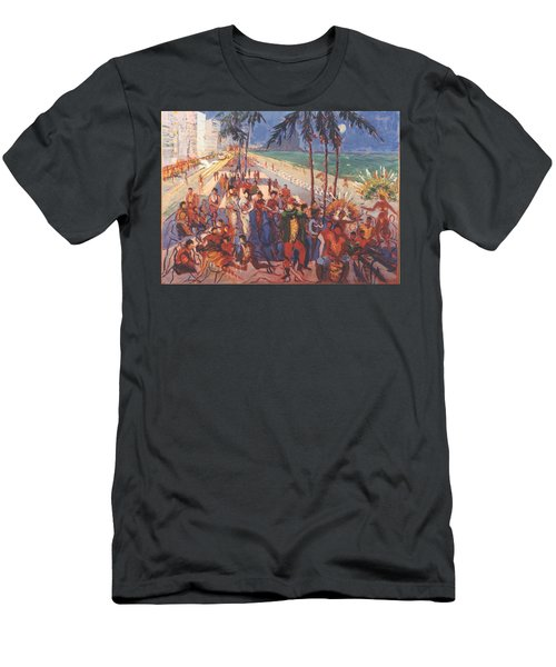 Men's T-Shirt (Slim Fit) featuring the painting Happening by Walter Casaravilla