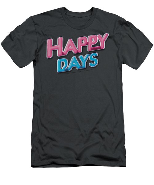 Happy Days - Happy Days Logo Men's T-Shirt (Athletic Fit)