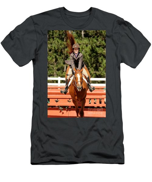 Happy Hunter Horse Men's T-Shirt (Athletic Fit)