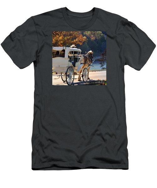 Happy Trails  Men's T-Shirt (Slim Fit) by Nava Thompson