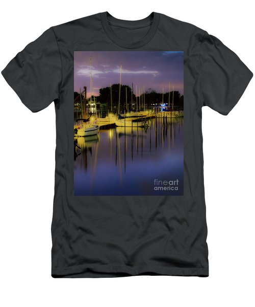 Harbor At Night Men's T-Shirt (Athletic Fit)