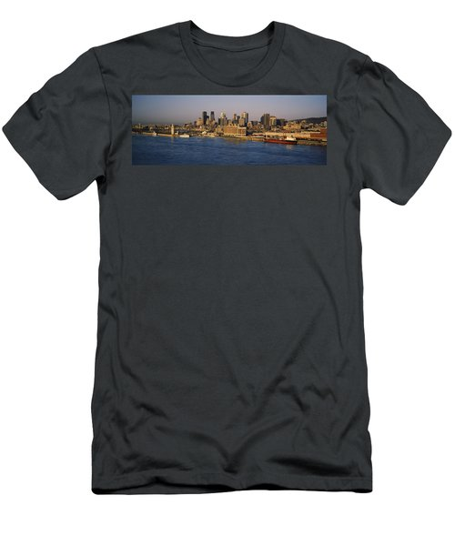 Harbor With The City Skyline, Montreal Men's T-Shirt (Athletic Fit)