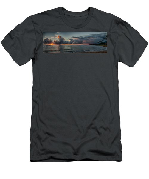 Hauula Sunrise Panorama Men's T-Shirt (Athletic Fit)