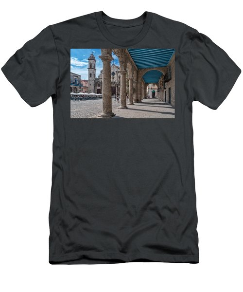 Havana Cathedral And Porches. Cuba Men's T-Shirt (Athletic Fit)