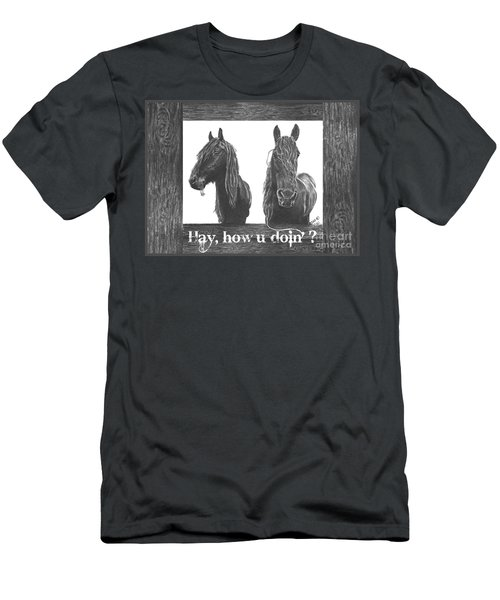 Hay How U Doin Card Men's T-Shirt (Athletic Fit)