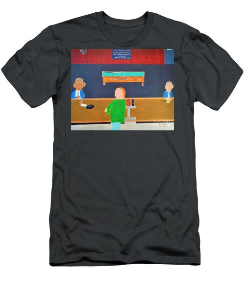 He Did It Men's T-Shirt (Slim Fit) by Dennis ONeil
