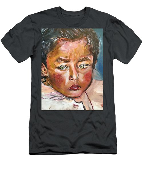 Men's T-Shirt (Slim Fit) featuring the painting Heal The World by Belinda Low