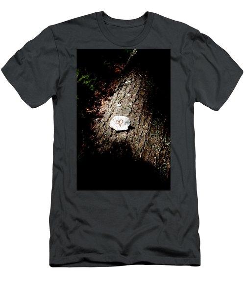 Heart Shape Stop Men's T-Shirt (Athletic Fit)