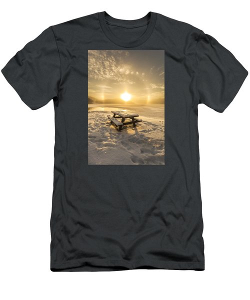 Men's T-Shirt (Slim Fit) featuring the photograph Heavenly Sleep by Rose-Maries Pictures