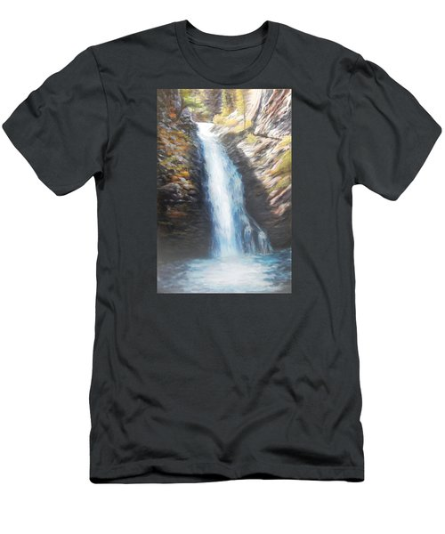 Hell Roaring Falls Men's T-Shirt (Slim Fit) by Patti Gordon