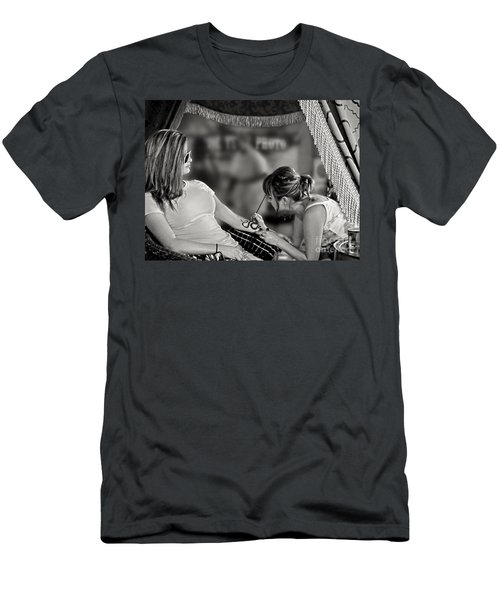 Men's T-Shirt (Slim Fit) featuring the photograph Henna At The Fair by Jennie Breeze