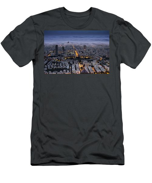 Men's T-Shirt (Slim Fit) featuring the photograph Here Comes The Fog  by Ron Shoshani
