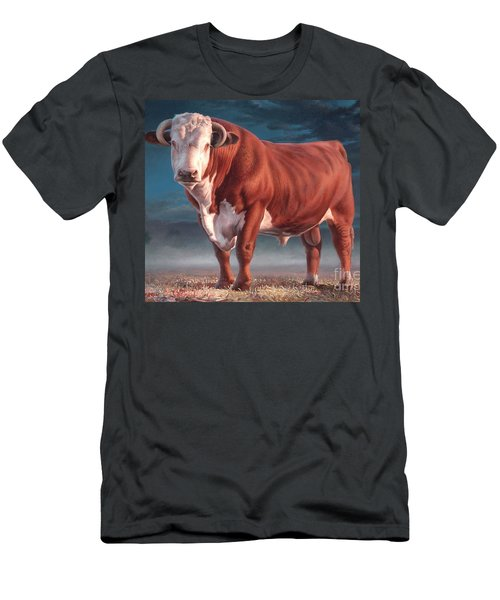 Hereford Bull Men's T-Shirt (Athletic Fit)