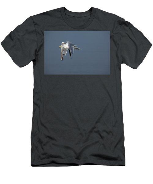 Herring Gull In Flight Men's T-Shirt (Athletic Fit)