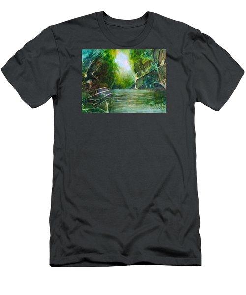 Hidden Green Men's T-Shirt (Athletic Fit)