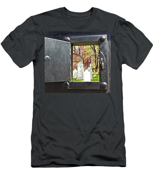Men's T-Shirt (Slim Fit) featuring the photograph Hidden New York by Joan Reese
