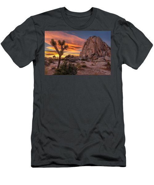 Hidden Valley Rock - Joshua Tree Men's T-Shirt (Athletic Fit)