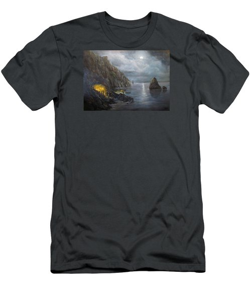 Hiding Treasure Men's T-Shirt (Slim Fit) by Donna Tucker